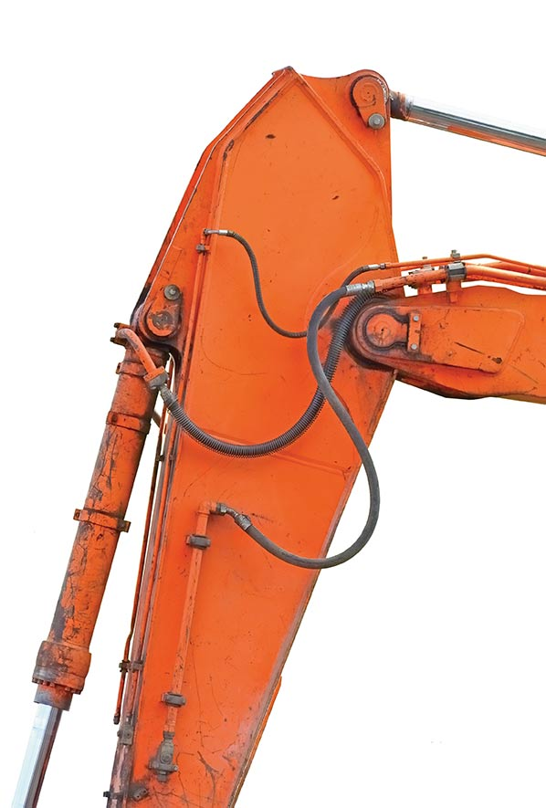 arm of an excavator